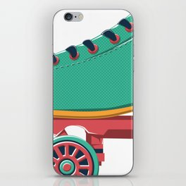 old school roller skate iPhone Skin