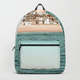 Vintage Newport Beach Print {1 of 4} | Photography Ocean Palm Trees Teal Tropical Summer Sky Backpack