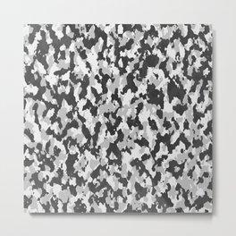 illustrations camouflage tarn texture pattern grey Metal Print