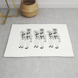 Showgirls_Black and White (Trio) Rug