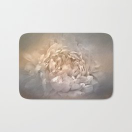 Blushing Silver and Gold Peony - Floral Bath Mat