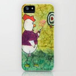 Darts Chicken iPhone Case