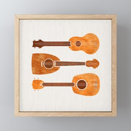 Hawaiian Ukuleles Framed Mini Art Print
