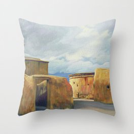 Tumacacori Mission Arizona Throw Pillow
