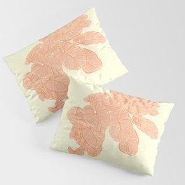 Pink Leaves Pillow Sham
