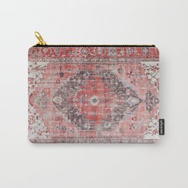 Vintage Anthropologie Farmhouse Traditional Boho Moroccan Style Texture Carry-All Pouch