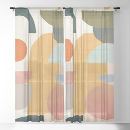 Modern Abstract Art 70 Sheer Curtain