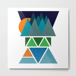 Sunset Fjord Metal Print