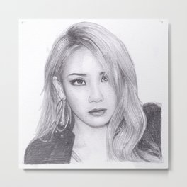 Chaelin Lee CL from 2ne1 Metal Print