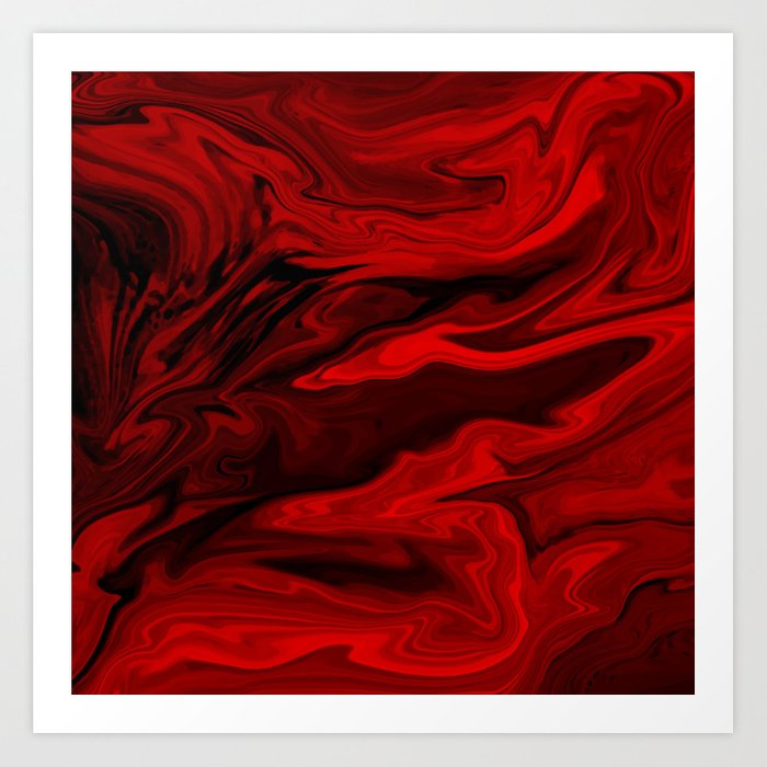 Blood Red Marble Kunstdrucke