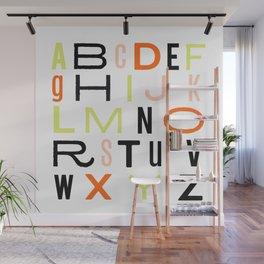 Eclectic Alphabet Wall Mural