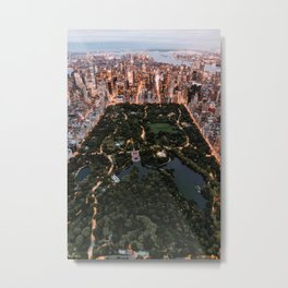 Central Park, New York - Twilight Metal Print