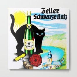 Vintage Zeller Katz Rhine River Valley Wine Bottle Label Print Metal Print